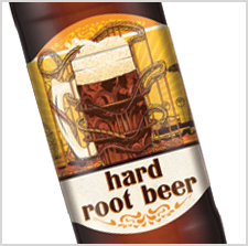 Award winning Coney Island hard root beer label by Inland