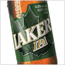 Award winning Laker IPA beer label by Inland