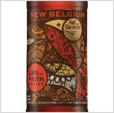 Award winning New Belgium beer label by Inland