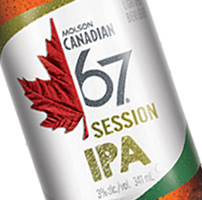 Award winning Molson IPA label by Inland