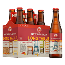 Award winning beer label by Inland, New Belgium