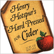 Henry Hotspur's Hard Pressed for Cider label