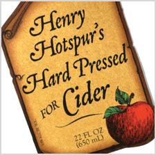 Henry Hotspur's Hard Pressed for Cider label