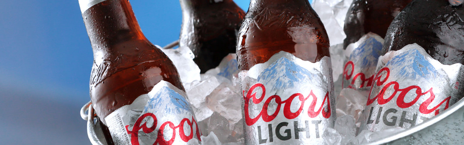 Coors Light mountains label by Inland