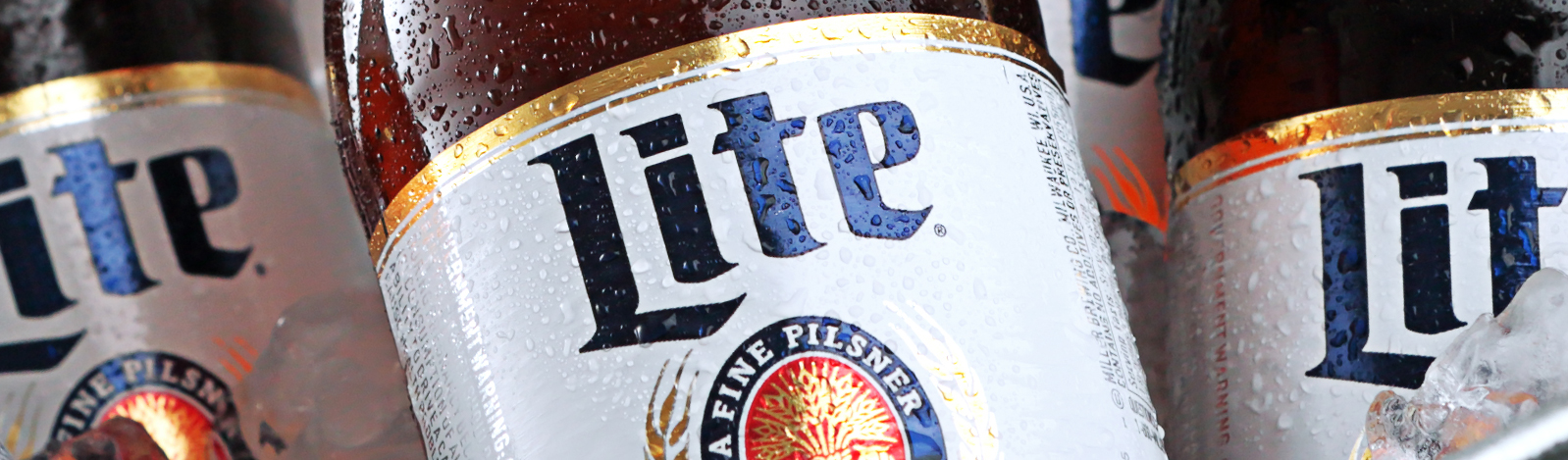 Cut and stack labels: Miller Lite label