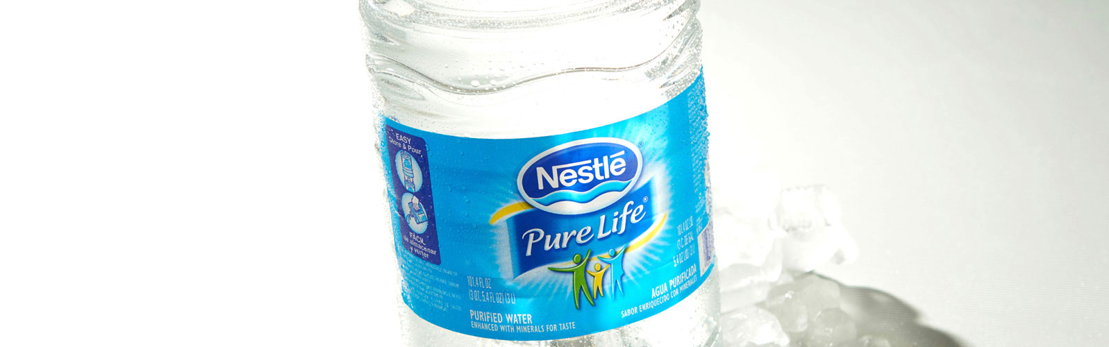 Nestlé Pure Life water bottle pressure sensitive label by Inland