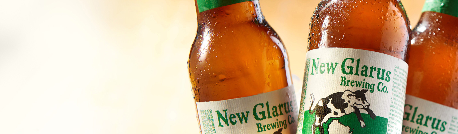 Craft beer label by Inland: New Glarus Spotted Cow