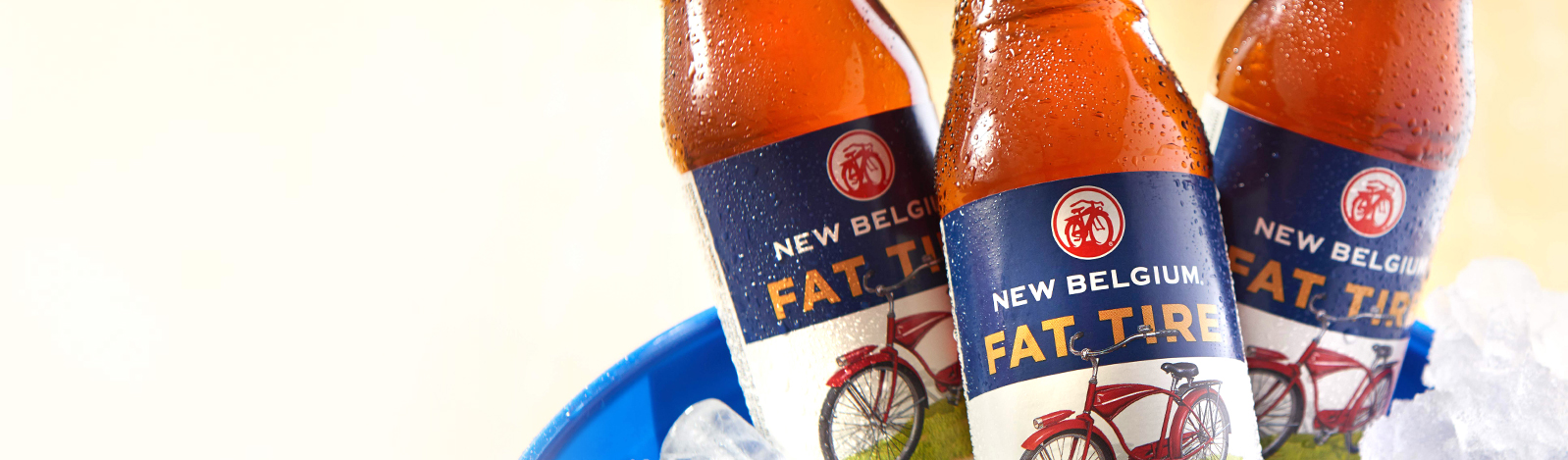 Sustainable packaging. Fat Tire New Belgium beer labels by Inland